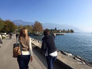 lakeside walking