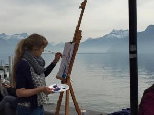 painting @ lakeside